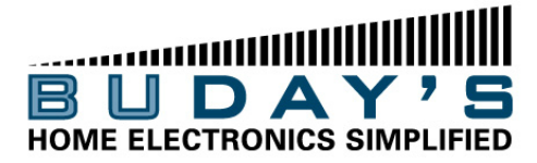 Buday's Home Electronics Simplified Logo